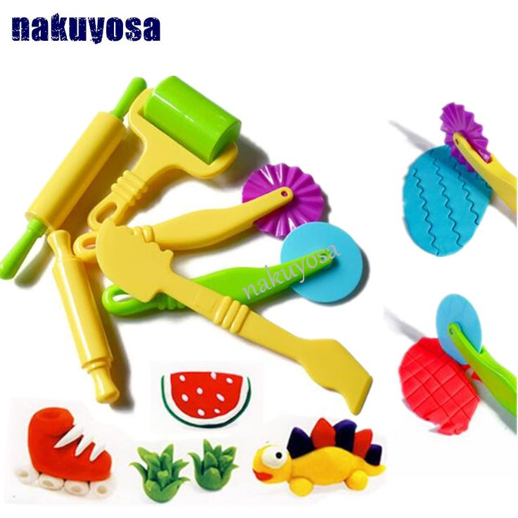 6pc/set Fimo Polymer Clay Intelligent Plasticine Playdough Modeling Mould Handgum Play Doh Tools Toys Clay Polymer Mold Kids Toy