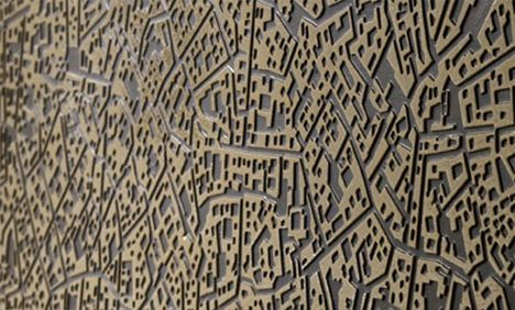 wall tile looks like urban street plan