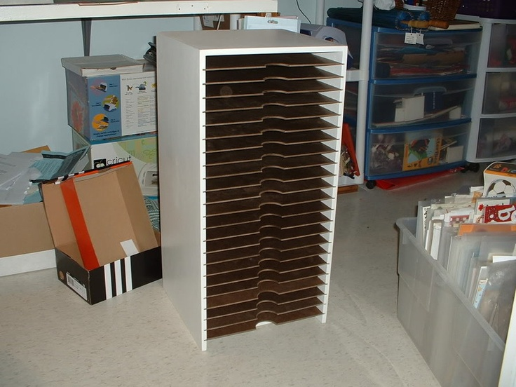 I Made This Rack For Holding X S Booking Paper Sheets My Wife It Fits Nicely Under Her Sbooking Table