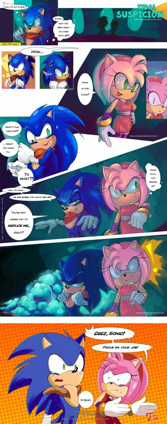 Amy may still like you Sonic but she's more mature now