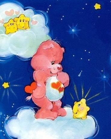 Care Bears illustration featuring Love-a-Lot Bear