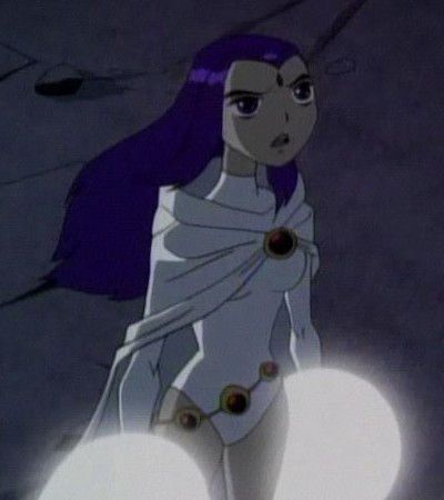 I'm cosplaying Teen Titans Raven, from Birthmark episode, where her hair grows long and her outfit is white. In these photos, i'm wearing basically her outfit (minus the cloak) and yet …