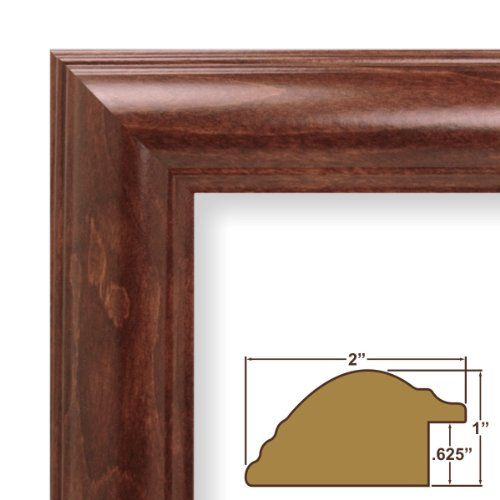 24x32 picture poster frame smooth wood grain finish 2 wide rich walnut brown 88031