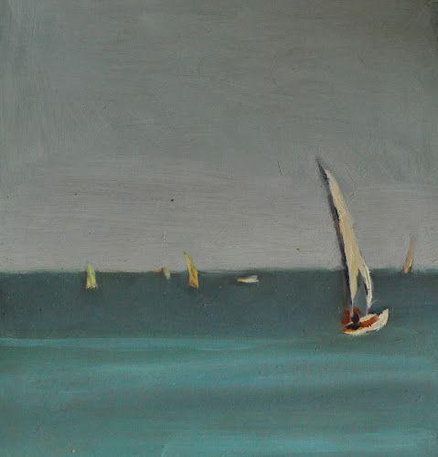 La Baule, olej na tekturze http://www.alesztuka.com/klaudia_mostowik/la_baule #obraz #sztuka #morze #alesztuka #galeriasztuki