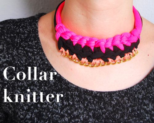 Collar con cadenas knitter