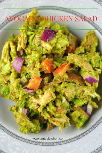 Avocado chicken salad. #antoskitchen #avocado #chicken #salad