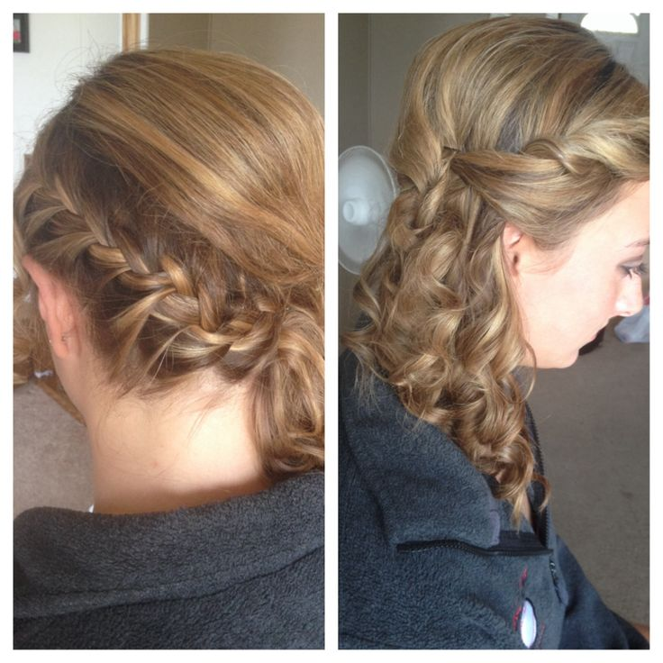 Cute Hair Homecoming Side Braid Curls Prom Done By Me