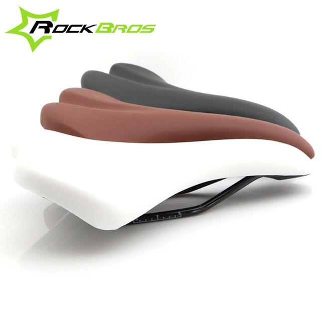 Rockbros cuero pvc sillín soft cómodo mtb mountain road bike sillín de bicicleta bicicleta asiento delantero trasero partes accesorios
