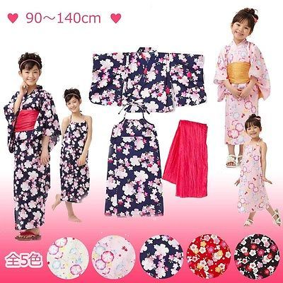 Yukata Kid's clothing Yukata Obi 2 setsSeparating type One Piece Sundress Japan