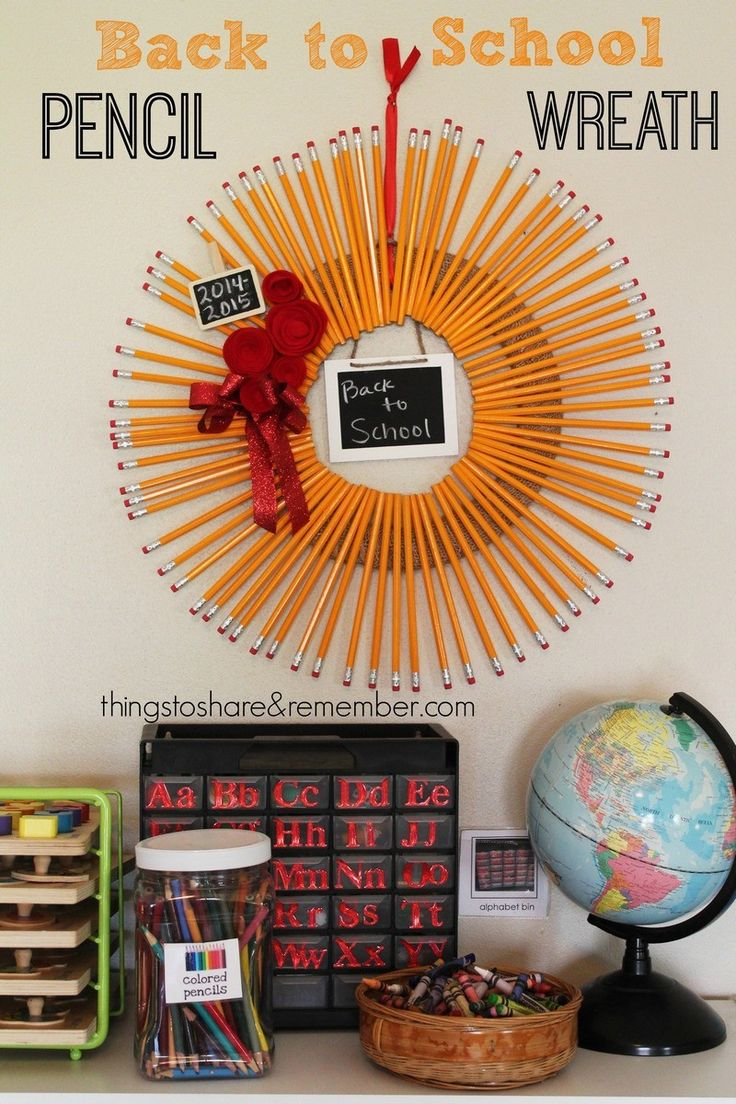 Back to School Pencil Wreath