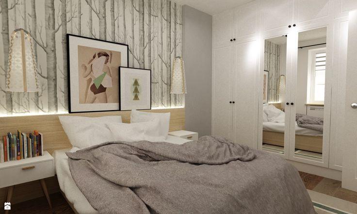 Sypialnia styl Skandynawski - zdjęcie od Grafika i Projekt architektura wnętrz