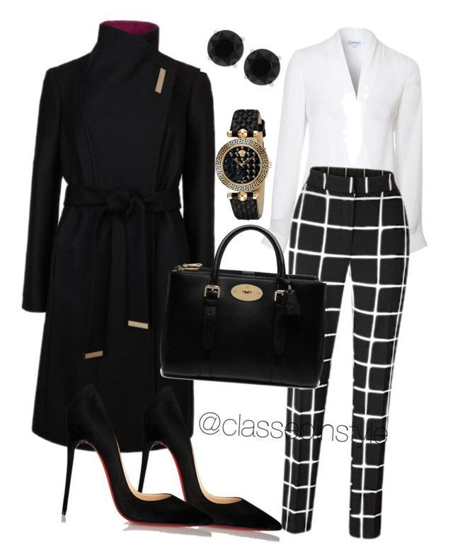 Untitled #176 by mama-liciuos on Polyvore featuring polyvore fashion style Lipsy Ted Baker Christian Louboutin Mulberry Versace Anne Klein women's clothing women's fashion women female woman misses juniors