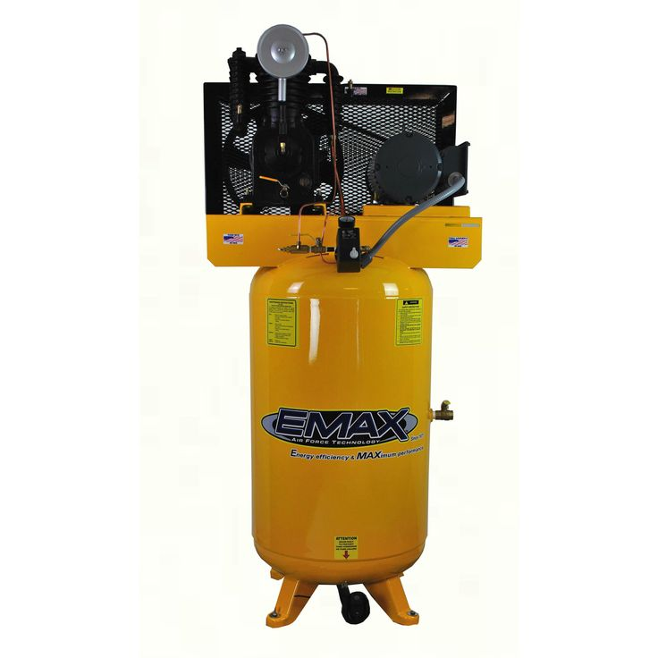 Emax Industrial Plus5 HP 1- Phase 2-Stage 80-gallon Vertical Stationary Electric Air Compressor