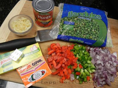 Happiness Cove...: Arrocera Arroz Con Gandules - Rice Cooker Rice with Pigeon Peas