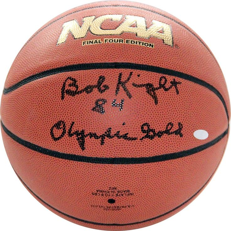 Steiner Sports Bob Knight 1984 Olympic Gold Autographed Basketball, Orange