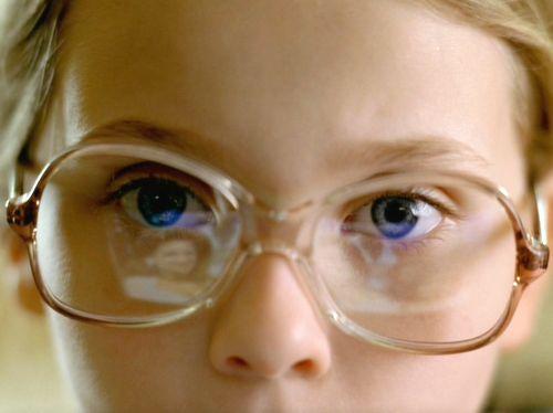 """""""Little Miss Sunshine"""" - I like the reflection on the little girl's glasses."""