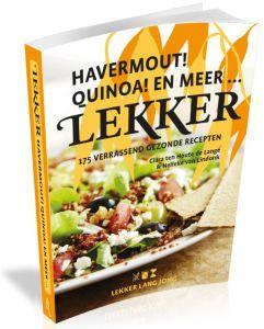 """""""LEKKER! HAVERMOUT! QUINOA! EN MEER... is een vervolg op LEKKER LANG JONG   een voedselzandloper kookboek, maar staat natuurlijk vol nieuwe recepten. Bijna alle recepten zijn 'voedselzandloperproof'. Daarnaast hebben we ook gedacht aan alle mensen die liever glutenvrij en/of lactosevrij eten, want ook bijna alle recepten zijn gluten- en/of lactosevrij. Dit zie je in één oogopslag aan de icoontjes die bij elk recept staan."""""""