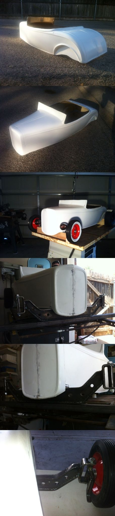 The beginning! 32 ford roadster pedal car. Hot rod stroller. Tot rod