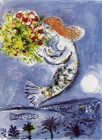 Marc Chagall.  love the way he dealt with plants