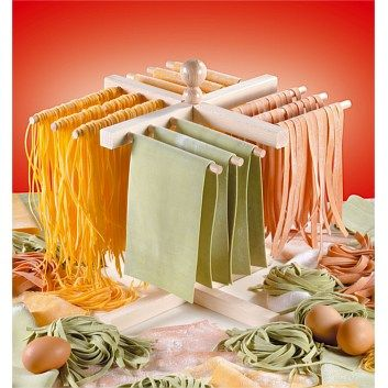 An easier and more compact way to dry your pasta. The imperia pasta drying rack.