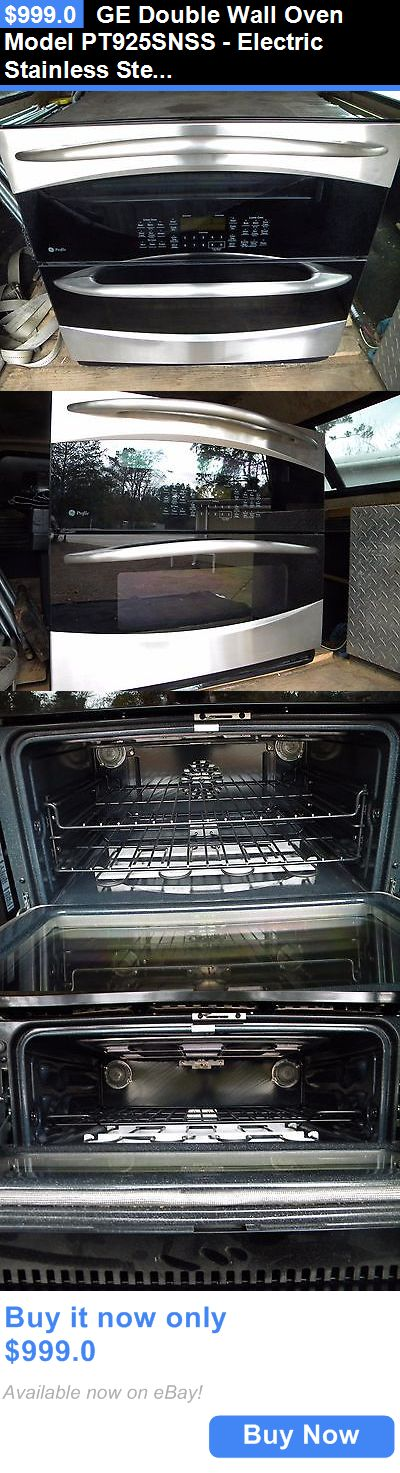 appliances: Ge Double Wall Oven Model Pt925snss - Electric Stainless Steel New Store Display BUY IT NOW ONLY: $999.0