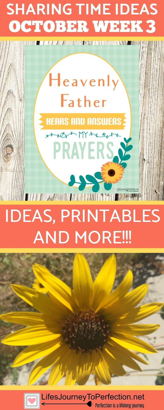 Sharing Time ideas October week 3 or 4. LDS Primary: Heavenly Father hears and answers my prayers
