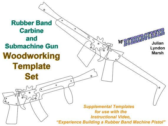 Rubber Band Carbine And Submachine Gun Template Set