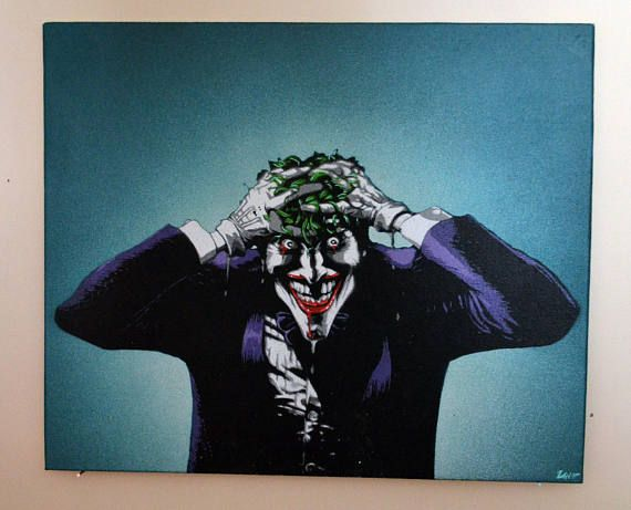 Joker stencil spray paint