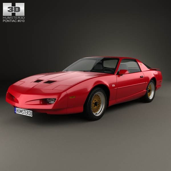 Pontiac Firebird Trans Am GTA 1991 3d model from humster3d.com. Price: $75