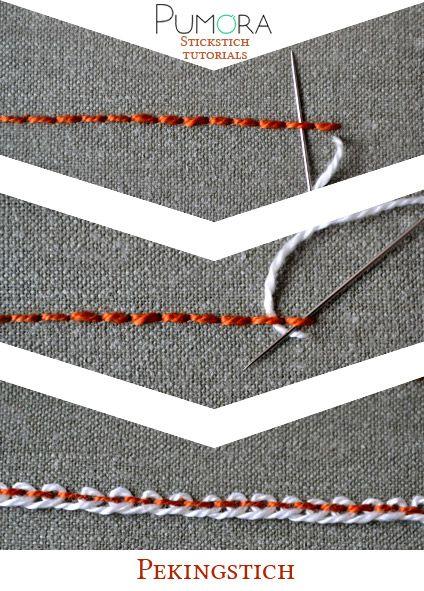 Pumora's Lexikon der Stickstiche: der Pekingstich
