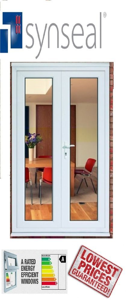 Drafty Upvc Patio Doors. New Synseal Upvc French Door Double Glazed With 2  Handles U0026 A Rated Glazing, £