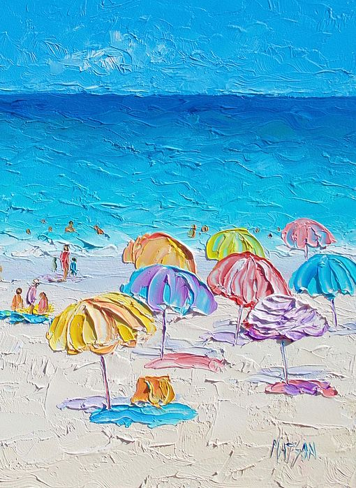 First Day of Summer #beachpaintings #beachdecor #beachart #canvasartprints