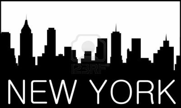 Skyline de la ciudad de Nueva York Foto de archivo