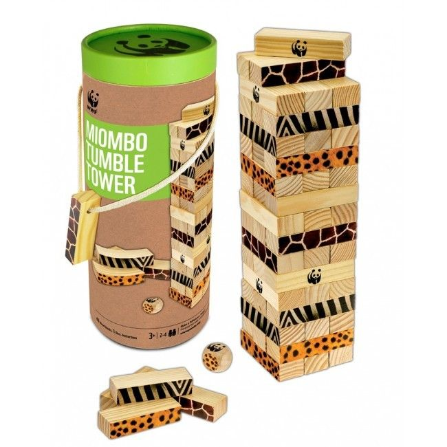 WWF Miombo Tumble Tower - Tumble & Roll Educational Toys. This stability game promotes learning about balance, staying calm, and encouraging hand-eye co-ordination. Suitable: 3years+. $37.00 #educationaltoys #toys #kids