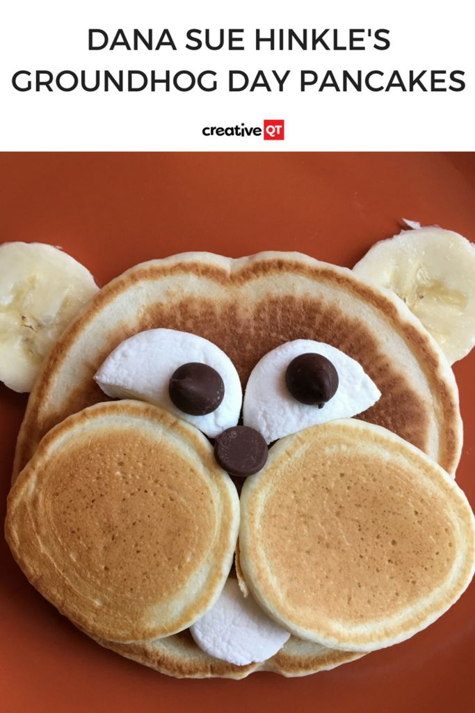 Make your kids day with these darling Groundhog themed pancakes this Groundhog Day! We guarantee this pancake recipe is one your kids will love! #pancakes #groundhogdayactivities #familyactivities #kidactivities