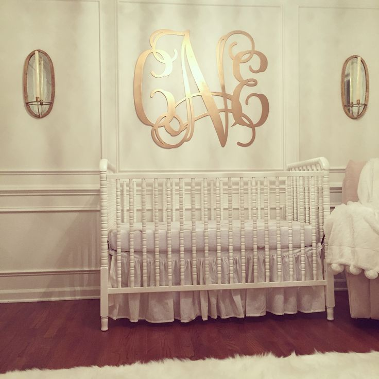 """We gilded the three foot monogram from Southern Nest for our daughter's nursery. We love the statement the XL monogram makes; it is definitely the focal point of the room!"" -Nicole St. John"