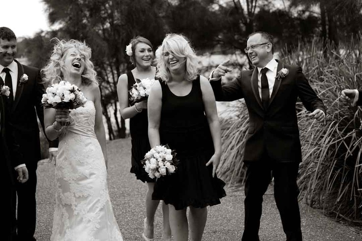 Telling jokes - this was a fun wedding