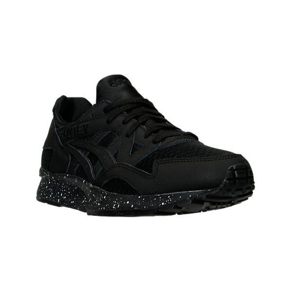 Asics Men's GEL-Lyte V Casual Shoes ($110) ❤ liked on Polyvore featuring men's fashion, men's shoes, men's sneakers, black, asics mens shoes, mens black shoes, mens black sneakers, mens sneakers and mens leopard print sneakers