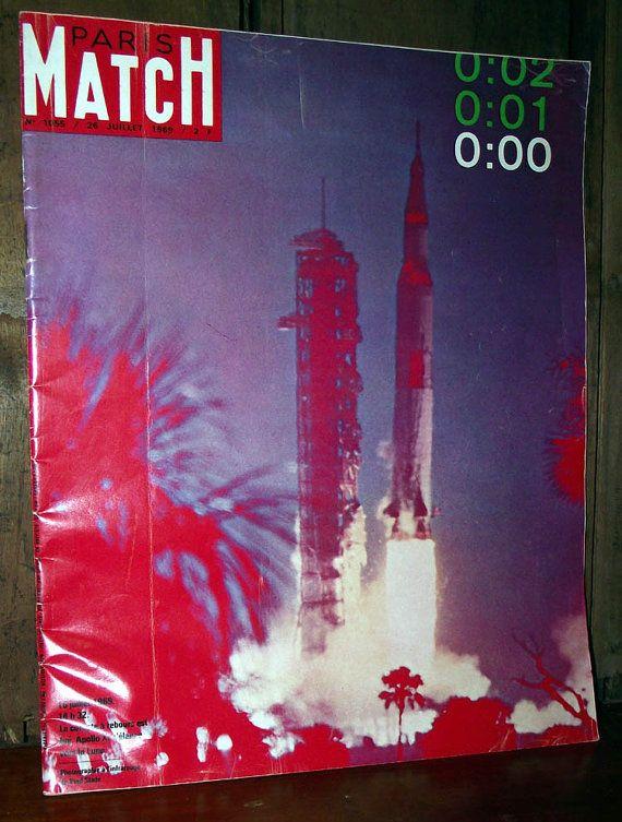 Paris Match Magazine Juillet 1969 by DaytonaVintage on Etsy, $10.45