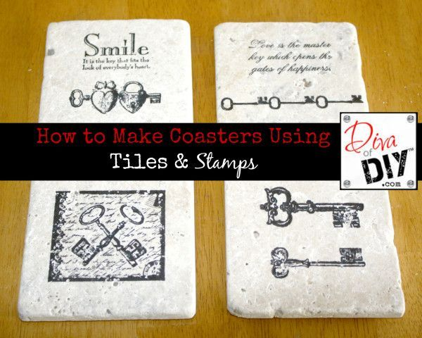 How to Make Coasters Using Tiles