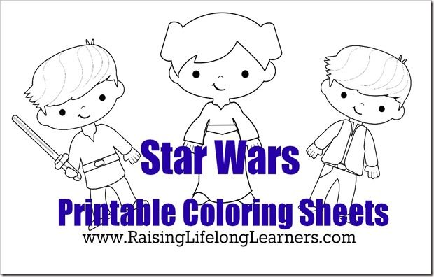 Coloring Pages For Young Learners : Fun star wars learning activities for young fans