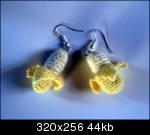 crochet earrings: bananas, apples & shrooms (+pattern!)