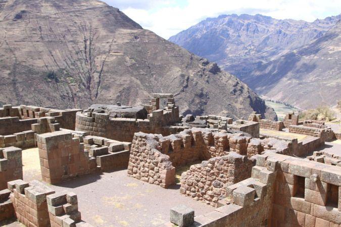 Impressive ruins overlooking the Sacred Valley, Pisac, Peru