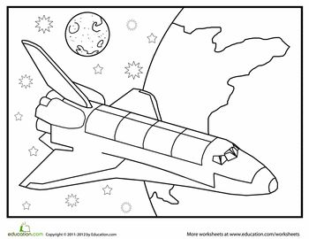 Coloring pages recess ~ Soaring Spacecraft Coloring Page | Education.com | Space ...
