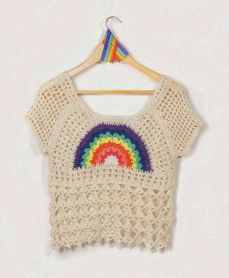 Crochet top with lovely color