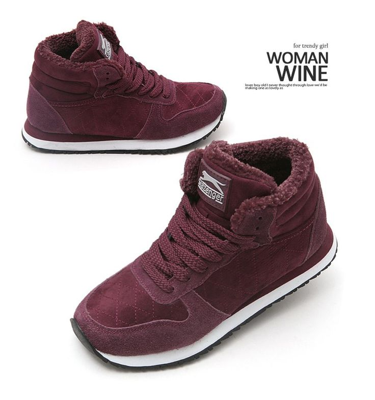 Slazenger Womens Mid Winter Snow Boots Sneakers Trendy Design Comfortable Shoes #Slazenger #WinterSnow