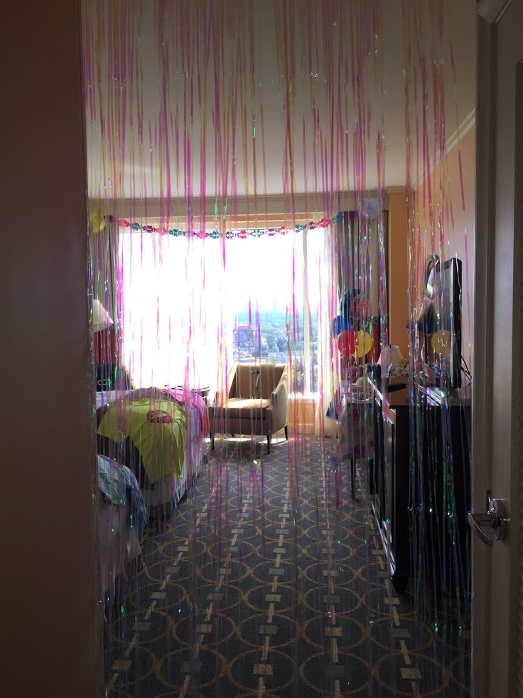 16th birthday hotel slumber party party ideas for Hotel room decor for birthday