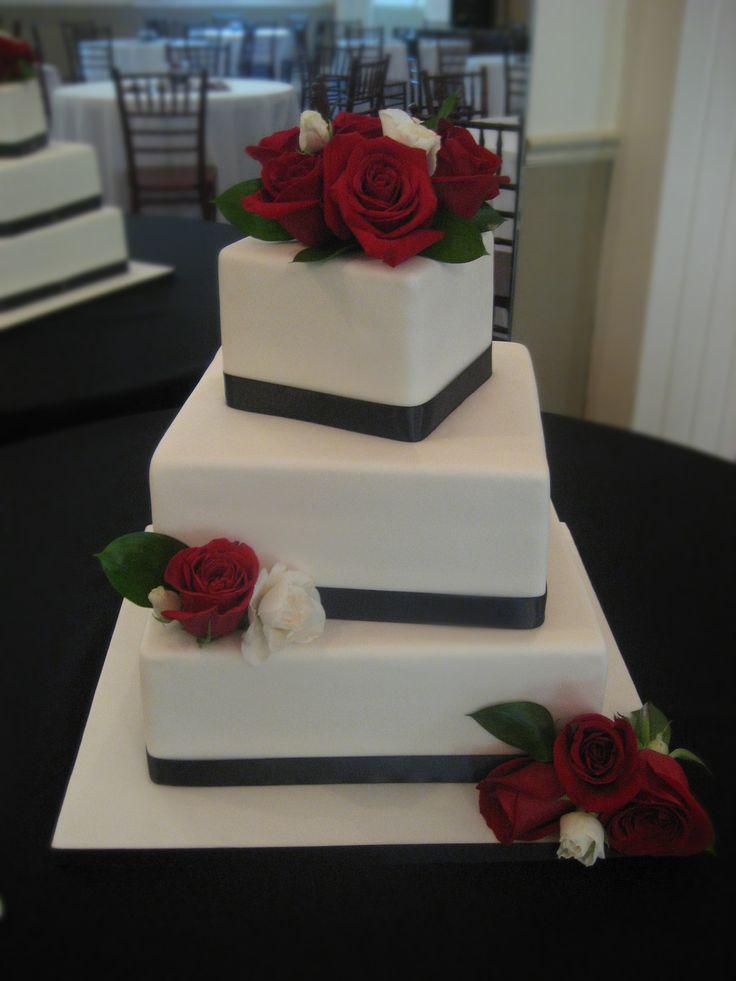 wedding cakes black white and red | Salt Lake City Wedding Cake | Salt Lake Wedding Cake | Wedding Cake ...