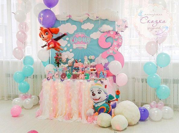 Decoracion para fiesta de los paw patrol para niñas (1)