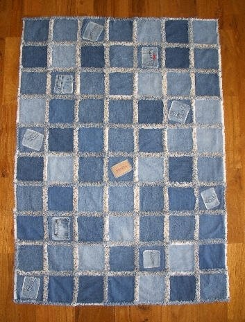 rag quilt made from old jeans